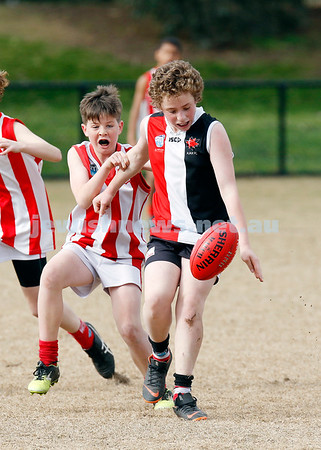 26-8-18. AJASX U 13 Jets v Mordialloc Braeside. Grand Final. Photo: Peter Haskin
