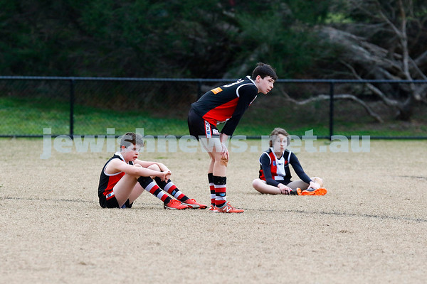 26-8-18. AJAX U 13 Jest lost to Mordialloc Braeside in the grand final. Photo: Peter Haskin