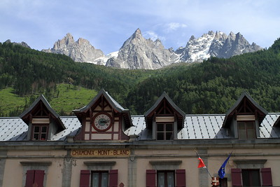 Leaving at Chamonix train station