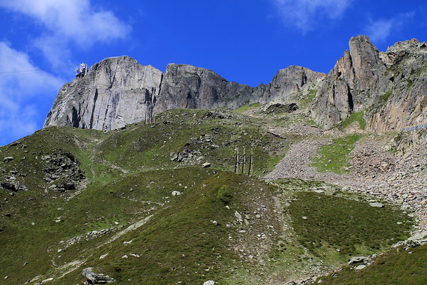 Going up there to Le Brevent: 500m up, 3km long