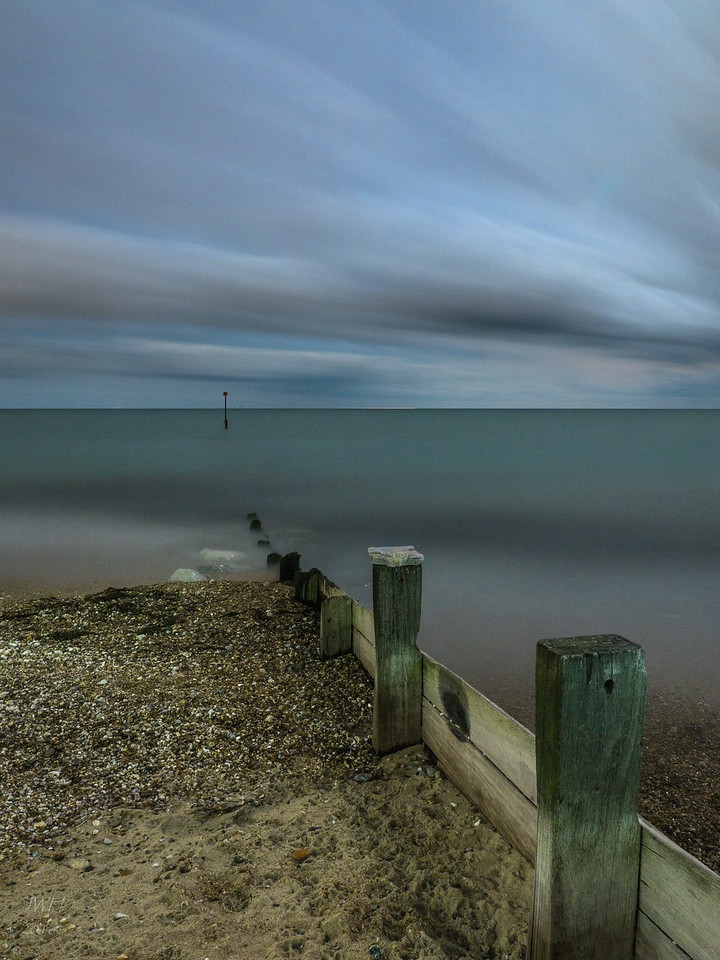 Pagham beach by moonlight