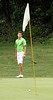 Mitch Sikorski reacts to a putt left short of the hole during the Saginaw District Golf Association Tournament qualifier Sunday at Green Acres Golf Course, Bridgeport.