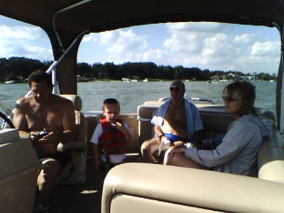Dad, Sean, Papa, and Terry out on the boat.  Labor Day Weekend pictures / All taken with my Sidekick 3 --- Sent from my Sidekick