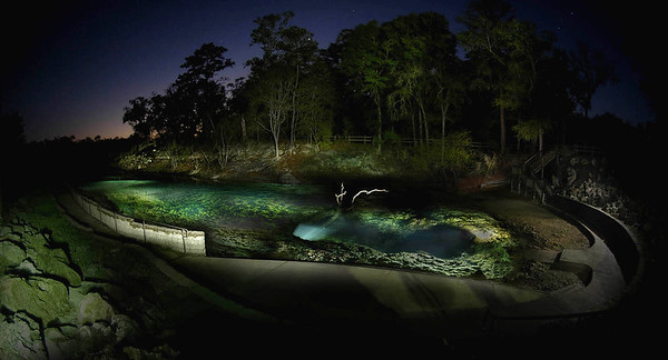 Night time light exposure of Little River Springs