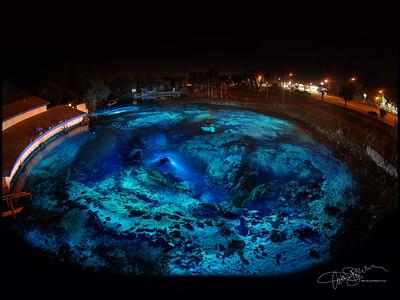 Weeki Wachee Spring Night time exposure with underwater light painting Photo by Curt Bowen Assistants: Brett Hemphil, Jon Bojar, and Jakub Rehacek