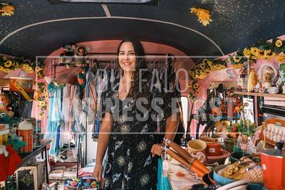Nia Puccio, owner, Blue Moon Vintage Bus