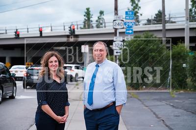 Angela Rossi, economic development director, and Brian Kulpa, town supervisor, Amherst.