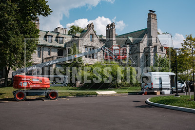 A look outside the Clement Mansion.