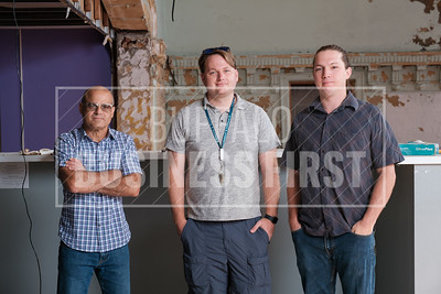 Jason Yots, Travis Gordon and Richard Rogers, investors and developers of the project,