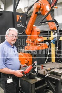 Ron Brown (cq) Technology Leader Automation with a programable robotic welder at EWI Columbus, Ohio.  6/14