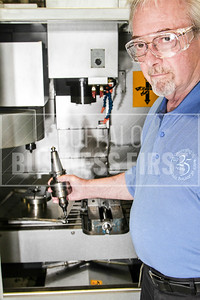 Ron Brown (cq) Technology Leader Automation with the AcousTech (cq) standard milling center. 6/14