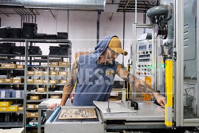 Ben Zeches machines an insert at North American Carbide.