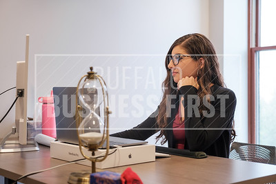 Jonnemarie Kahwaty, senior software engineer, LenderLogix, works at her desk
