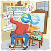 e - Webcomic about programming, web design and web browsers