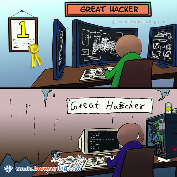 Great Hackers - Webcomic about programming, web design and web browsers