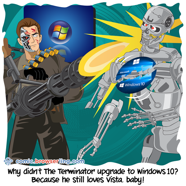 The Terminator - Webcomic about programming, web design and web browsers