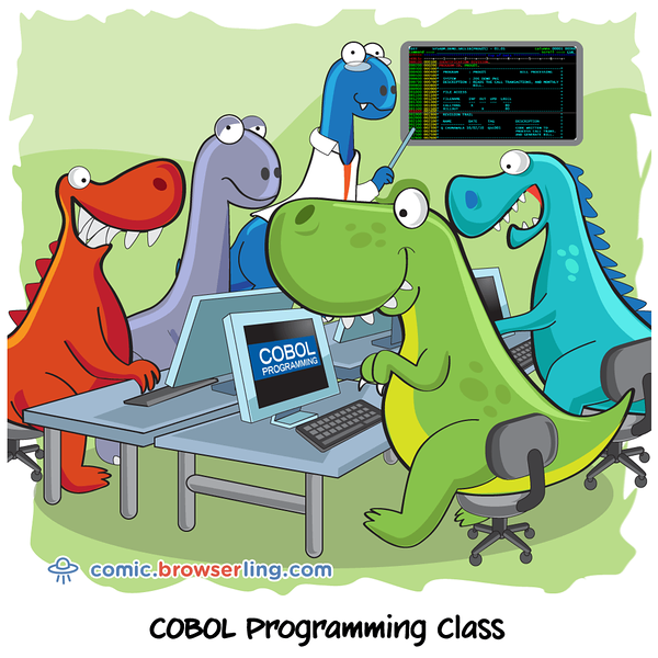 Dinosaurs - Webcomic about programming, web design and web browsers