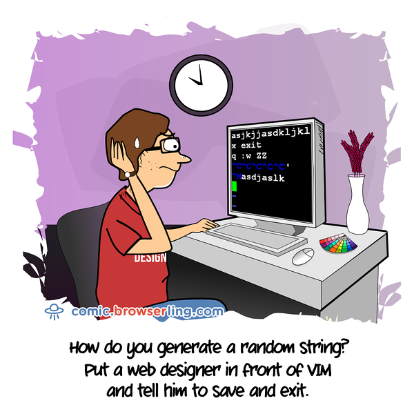 VIM - Webcomic about web developers, programmers and browsers