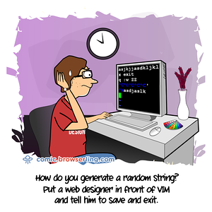 VIM - Webcomic about programming, web design and web browsers