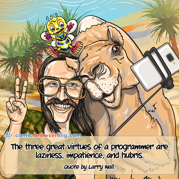 Larry Wall - Webcomic about web developers, programmers and browsers