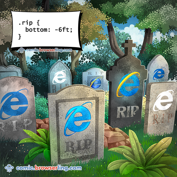 Graveyard - Webcomic about programming, web design and web browsers