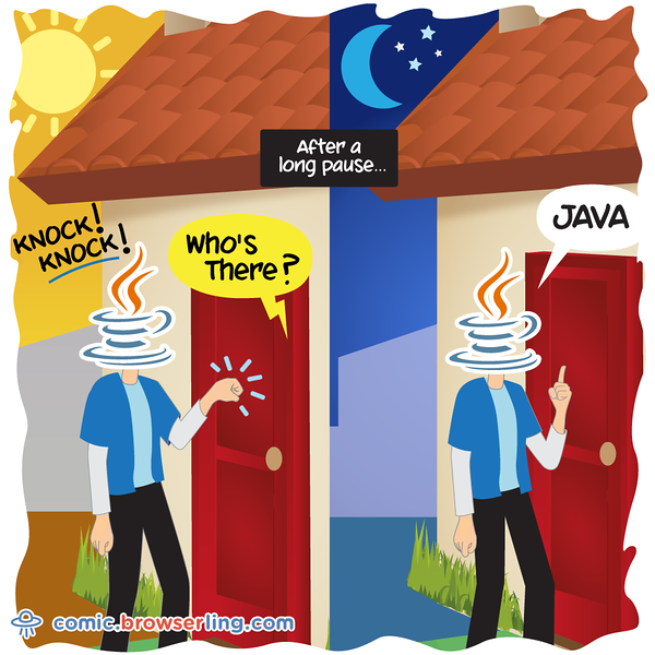 Java - Webcomic about programming, web design and web browsers