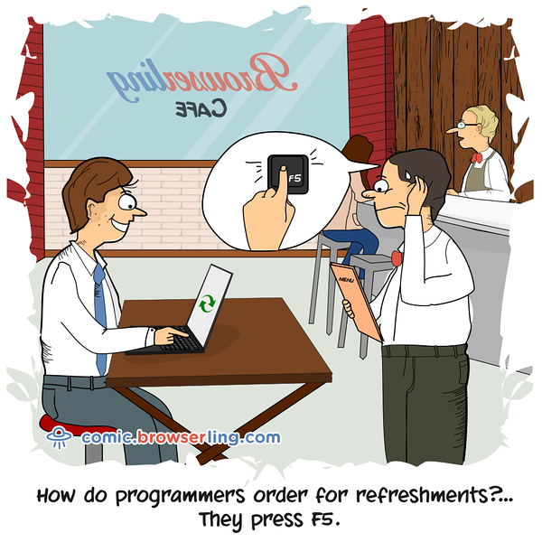 Refreshments - Webcomic about programming, web design and web browsers
