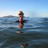 May 26 Water World Swim TriClinic - Andrea training for the Escape from Alcatraz Triathlon