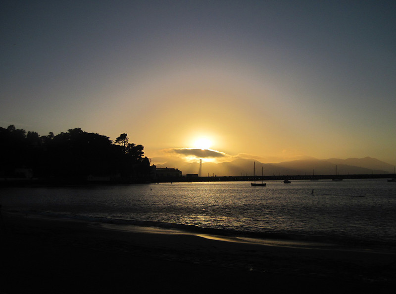 After the swim, Aquatic Park set the stage for a fantastic sunset.