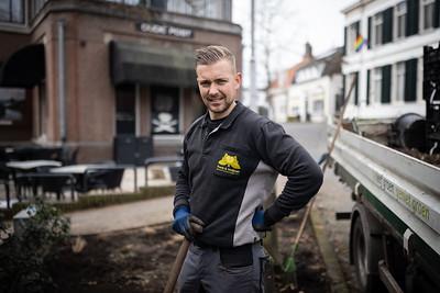 Timo aan het werk in Renkum