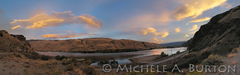 2013-1007_Columbia River Sunset Wenatchee