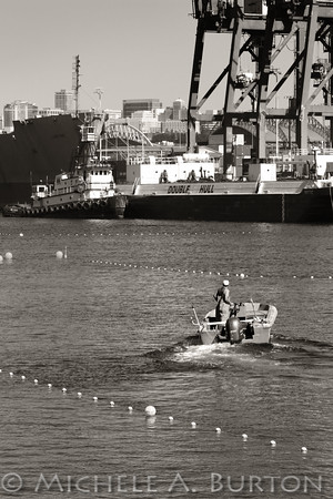 Tribal fisherman manages his nets along the Duwamish Waterway in Seattle