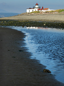 West Point Lighthouse from Discovery Park Beach