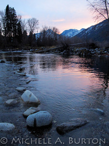 Sunset on the Wenatchee River at Barn Beach Reserve