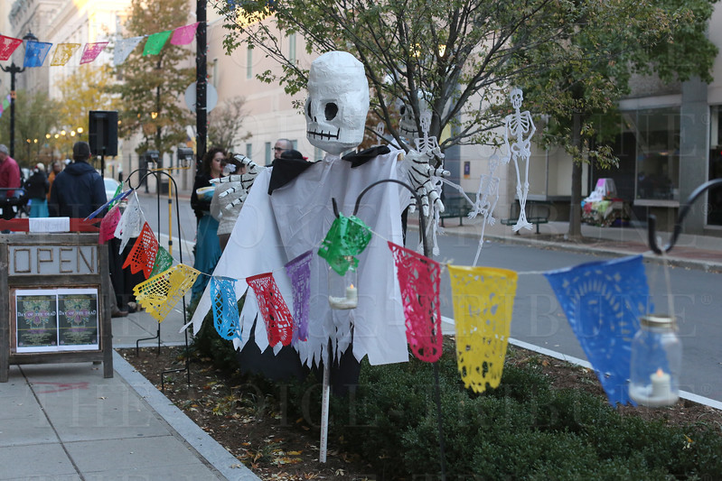 """Trolley hop """"Day of the Dead Celebration""""; South 4th Street District."""