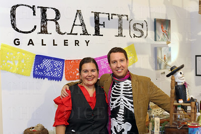 Co-owners of Craft (s) Gallery: Karen Welch and David McGuire.