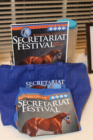 A gift package from the Secretariat Festival was a silent auction item.
