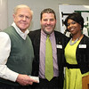 Denny Crum, representing his scholarship foundation with Chad Douglas and Sonja Grey.