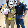 "Sarah Landers is ""Sparky"" of Lyndon Fire and Rescue with her father Jeff Sanders."