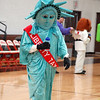 """Lady Liberty"" is the mascot for Liberty Tax Service."