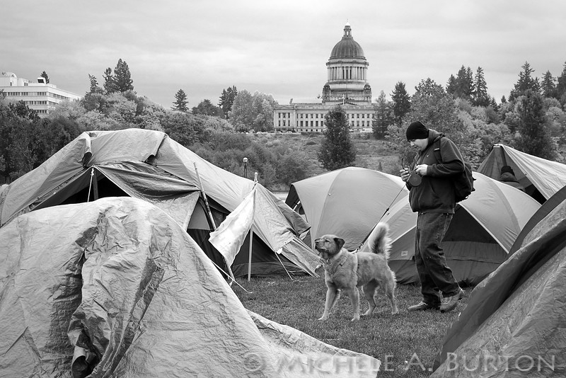 "Occupy Olympia Capitol Lake Heritage Park Olympia, WA   <a href=""http://micheleburton.blogspot.com/2011/11/photo-of-week-october-28-2011.html"">October 28, 2011</a>"