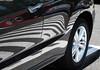 """""""zebra"""" car in supermarket parking lot<br /> <br /> July 14, 2015"""