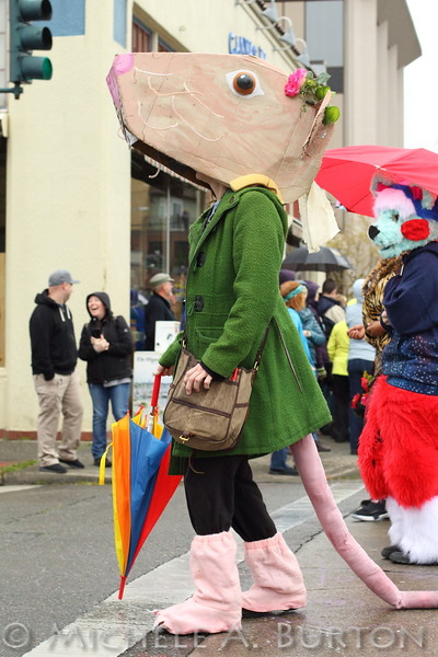 "Giant mouse dressed in a sharp outfit. Seen at 2017 Procession of the Species<br /> <br /> more photos of the event at <br /> <a href=""http://www.micheleburton.com/Other/Procession-of-the-Species-Olympia-2017/"">http://www.micheleburton.com/Other/Procession-of-the-Species-Olympia-2017/</a>"