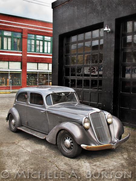 1930s Hupmobile<br /> parked in downtown Olympia, WA<br /> <br /> April 2, 2013