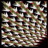 Origami Style Kaleidoscope created from 2 Botanical Photos<br /> <br /> July 7, 2014