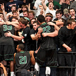 The Trinity Shamrocks, celebrated their win with their classmates.