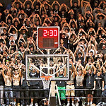 The Trinity Student Body, cheered on their team.