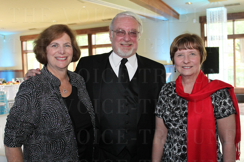 Maxine and Andrew Mellman with Linda Young.