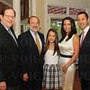 Rabbi Robert Slosberg, David Lissy and Talia, Tracy and Jonathan Blue.