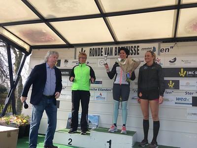 podium vrouwen 10 km